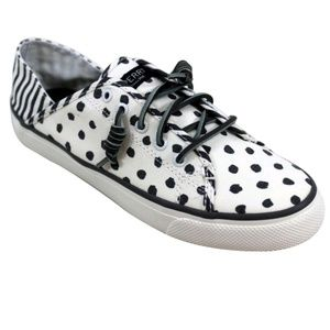 Sperry Womens Seacoast Isle Dot Grey Sneakers